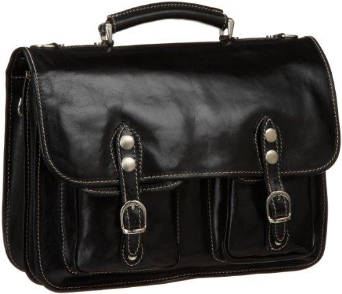 - Floto Luggage Poste Messenger Bag, Black, One Size