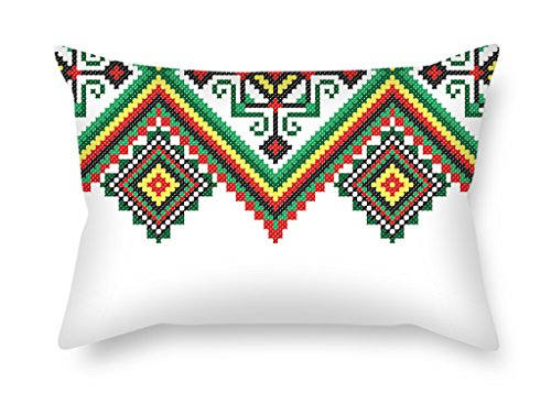 bestseason-colorful-geometry-christmas-pillow-covers-18-x-26-inches-45-by-65-cm-gift-or-decor-for-fa