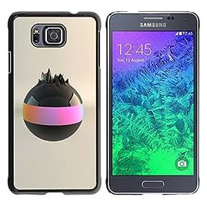 Planetar® ( Black Ball ) Samsung GALAXY ALPHA G850 Fundas Cover Cubre Hard Case Cover