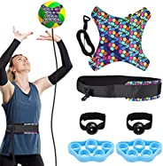 VINTEAM Volleyball Training Equipment Aid, Volleyball Serve Trainer Solo Practice Trainer Kit for Serving, Set