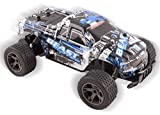 remote control 18 wheeler trucks - Cheetah King Remote Control RC Buggy Truggy Truck Car 2.4 GHz System 1:18 Scale Size RTR w/ Working Suspension, High Speed, Radio Control Off-Road Hobby Truggy Rechargeable (Blue)