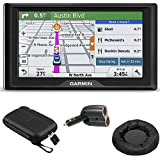 Garmin Drive 50LM GPS Navigator Lifetime Maps (US) 010-01532-0C Case + Mount + Charger Bundle includes GPS, 5-inch Soft Case, Universal GPS Navigation Dash-Mount and Dual 12V Car Charger
