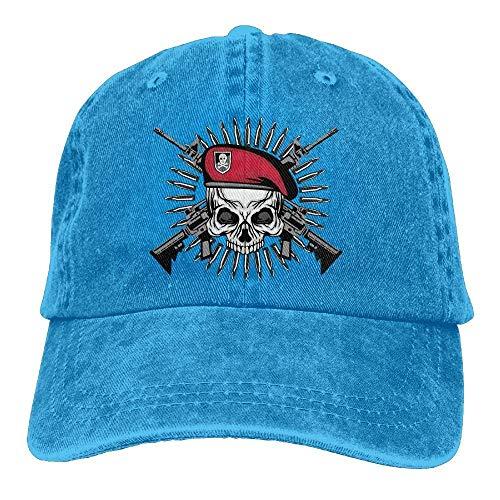 Women Men Cap Hat Pirate Cowboy Denim Cowgirl Gun Hats Skull Sport DEFFWB Skull for 7YaOwqO