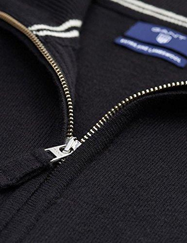 para Zip Lambswool Punto Super Chaqueta Black Hombre Gant Fine Cardigan 7Hxqwn0A