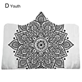 Bulary Lotus 3D Digital Printing Hooded Blanket Home Blanket Thick Blanket, Warm Souvenir Gift, for Adult/Kids, 5 Types
