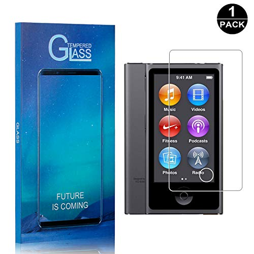iPod Nano 7 Screen Protector, Bear Village Premium Tempered Glass Screen Protector, Scratch Resistant HD Screen Protector Film for iPod Nano 7-1 Pack