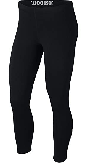 super popular 2fcdc b9e63 Nike W NSW lggng legasee Crop Logo, Legging Femme XS Black White