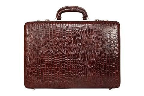 SCHARF Premium Leather Business Attache Case - Attache Brief