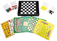 [16 in 1] Family Magnetic Game Set 12.6'' 10.2'' Chess Boards/Checkers/Backgammon/Tic-Tac-Toe/Chinese Checkers/Fox&Hens/Solitaire/Road Sign Game/Nine Men's Morris/Snakes&Ladders Game/Ludo Game