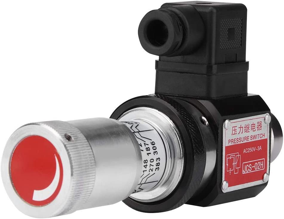Jcs-02H Pt1//4 Hydraulic Pressure Switch Pressure Relay 5-35Mpa 50-350Kg//Cm2 Qinlorgo Pressure Relay