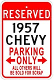 1957 57 CHEVY Aluminum Parking Sign - 10 x 14 Inches