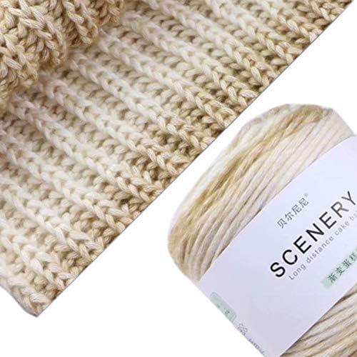Xiuinserty - Ovillo de lana para tejer (100 g, degradado a mano, ovillos de lana de algodón, gruesos y coloridos hilos de ganchillo e: Amazon.es: Hogar