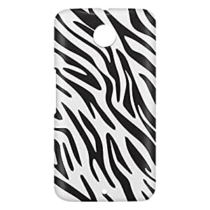 Loud Universe Motorola Nexus 6 3D Wrap Around Zebra Print Cover - Black/White