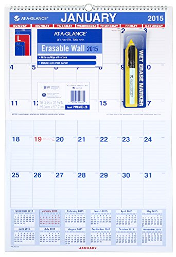 GLANCE Laminated Monthly Calendar PMLM03 28