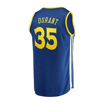 KETRL Camisa Bordada Aficionados Warriors Durant Jersey para Hombre (Azul, S): Amazon.es: Deportes y aire libre
