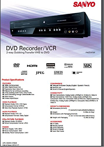Sanyo Recorder Combo 2 way recording product image