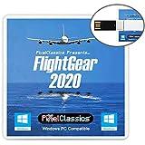 FlightGear Flight Simulator 2020 USB Flight Sim Plane & Helicopter Professional Simulator Including 600+ Aircraft & 20,000 Re