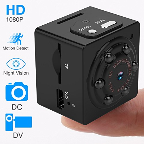 Hidden Spy Mini Portable Camera, 1080P HD Body Cam with Night Vision Motion Detection Wireless Small Video Recorder for Sports Home and Office Surveillance