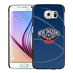 Unique Custom Designed Cover Case For Samsung Galaxy S6 With New Orleans pelicans 11 Black Phone Case