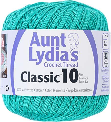 Aunt Lydia 154.0962 Classic Crochet Thread, Jade