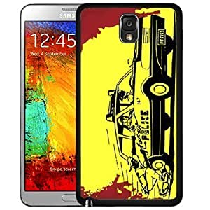 F*** the Police Funny Person Driving Yellow Car with Red in Background Hard Snap on Cell Phone Case Cover Samsung Galaxy Note 3 N9000