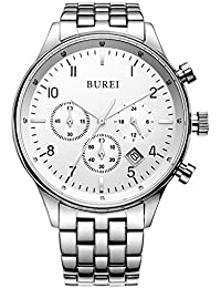 Men's Multifunction Chronograph Wrist Watch Stainless...
