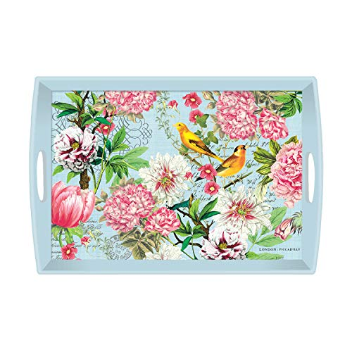 Michel Design Works Large Decoupage Wooden Tray, Garden Melody