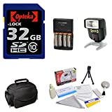 Opteka 32gb Starter Package for Canon EOS 60D, 60Da, T3i, T2i and T3 Digital SLR Cameras