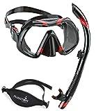 Atomic Venom Dive Mask and SV2 Snorkel Combo (Black / Red)