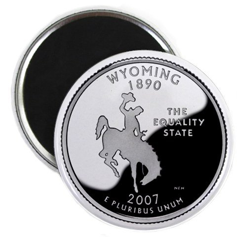 Wyoming State Quarter Mint Image 2.25 inch Fridge Magnet
