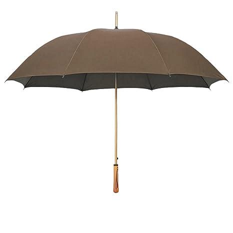 Sombrilla Grande Mango Largo Paraguas Hombres de Negocios Doble Mango Recto sombrilla Paraguas Resistente a la