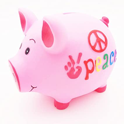 2b53119395b Image Unavailable. Image not available for. Color  FuNovelty Piggy Bank  Cute Pig Money Box Coin Bank For Kid`s Birthday Gift PVC
