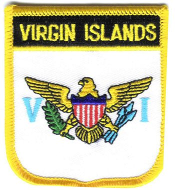 Flagline US Virgin Islands - Country Shield Patch ()