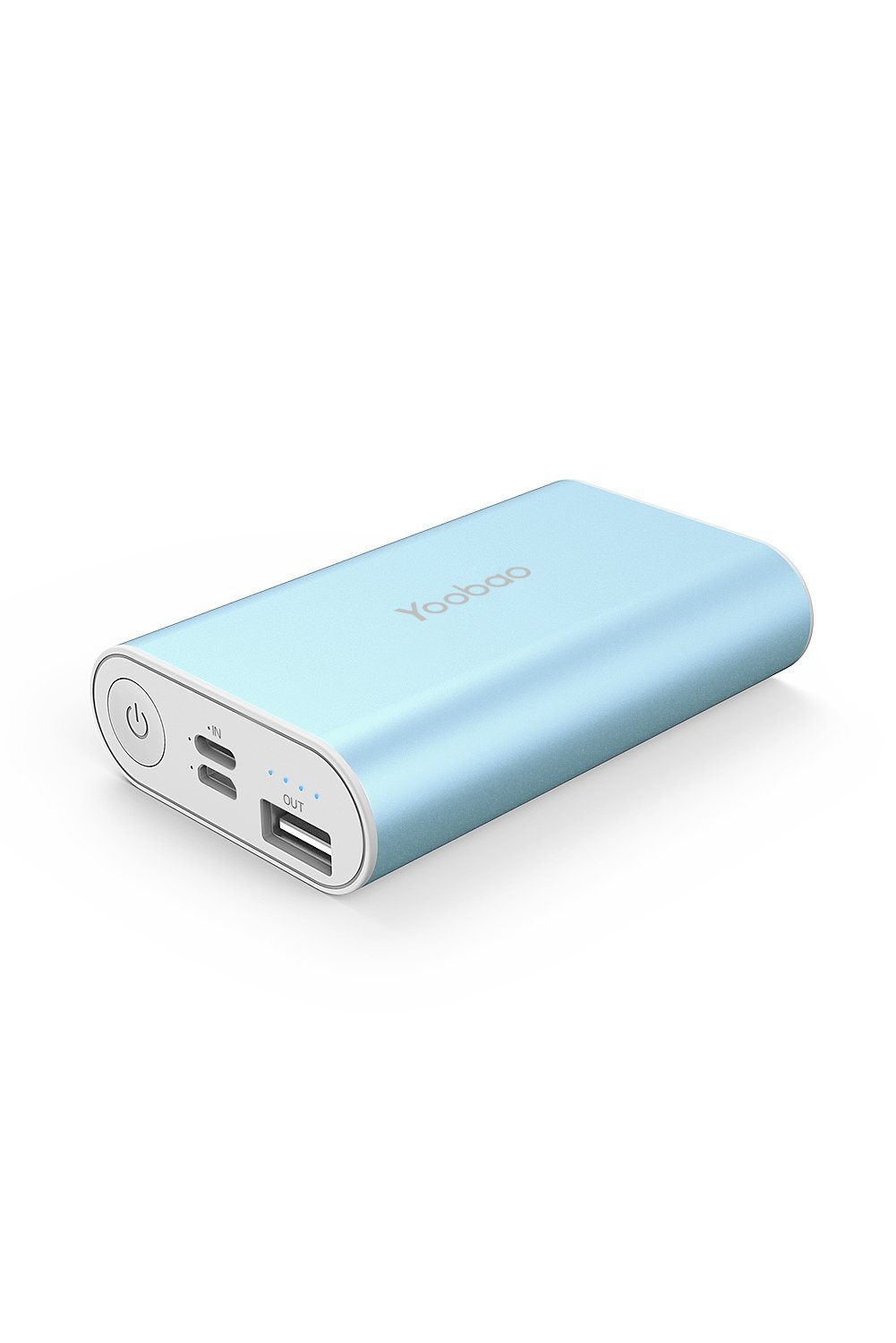 Portable iPhone Charger, Yoobao 6000mAh Ultra Compact Power Bank External Battery Pack Cellphone Battery Backup Powerbank (Lightning & Micro Dual Input) Compatible iPhone Samsung Cell Phone - Blue