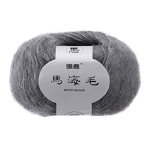Elevin(TM)  Soft Mohair Knitting Wool Yarn DIY Shawl Scarf Crochet Thread Supplie G -