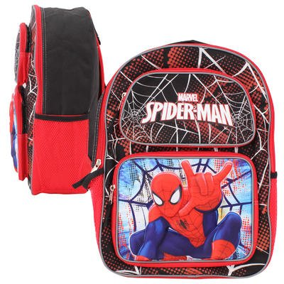 "Marvel Spiderman 3D Pop-Up 16"" Backpack good"