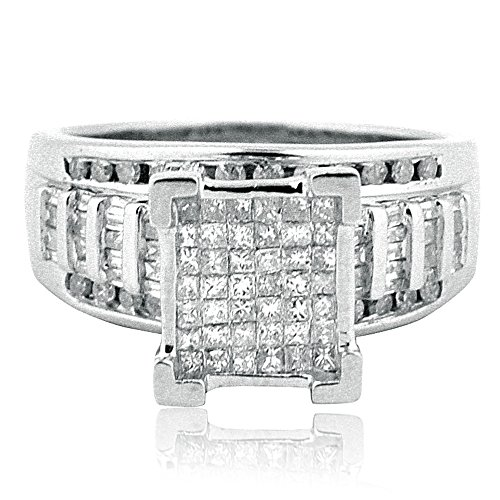 1cttw-Diamond-Wedding-Ring-3-in-1-Style-Sterling-Silver-10mm-Wide-Princess-Cut-Diamonds