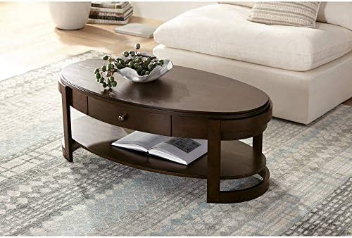 Martin 48 1/4″ Wide Traditional Ash Oval Coffee Table