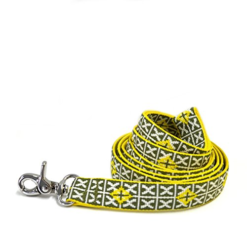 Waggo Seeing Stars Leash - Moss - Small - 5' x 5/8 inches