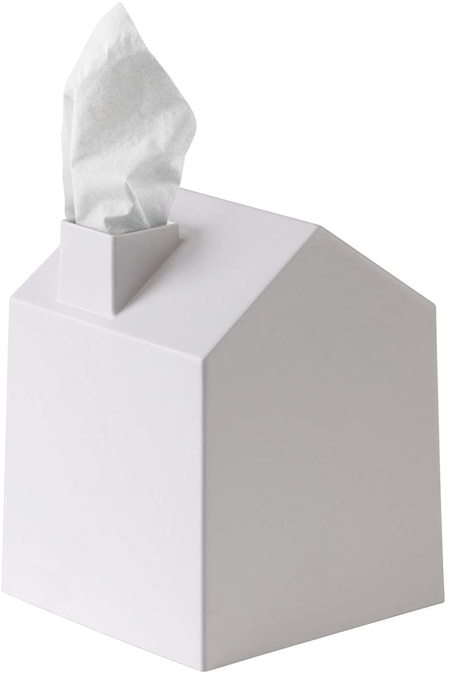Amazon Com Umbra Casa Tissue Box Cover Adorable House Shaped Square Tissue Box Holder For Bathroom Bedroom Or Office White Home Kitchen