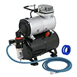ZENY Pro 1/5 HP Airbrush Air Compressor Kit w/3L Tank & 6FT Hose Multipurpose for Hobby Paint Cake Tattoo