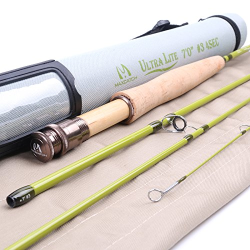 Maxcatch Ultra-lite Fly Rod for Streams (3-weight 7ft 4-Piece)