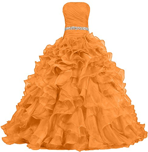 Ball Dresses Women's Dress Gown Ruffle Orange Pretty ANTS Prom Quinceanera d8fxwg8n