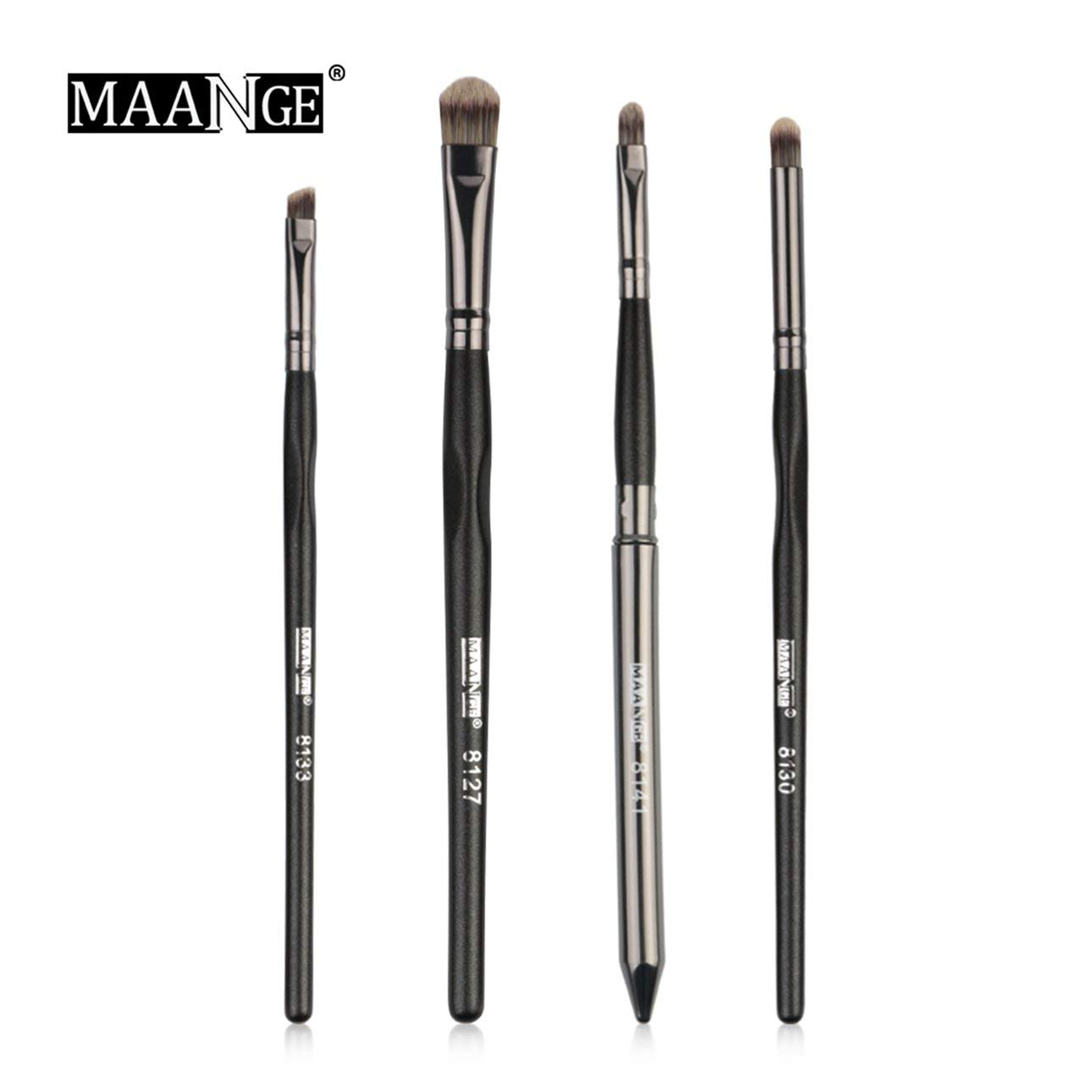 Liobaba 4PCS/SET Wood Handle Makeup Brushes Set Professional Powder Eyeshadow Eye Lip Face Cosmetic Beauty Brush Kit
