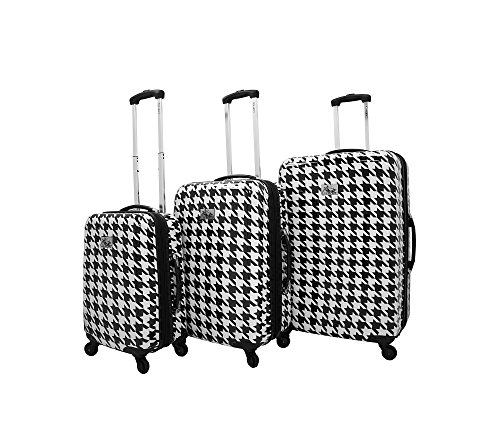Bag Travel Chariot (Chariot 3-pc. Bird ABS Luggage Set Black and White)