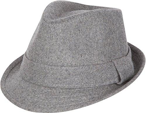 Sakkas F1218 Original Unisex Structured Wool Fedora Hat - Charcoal - L/XL