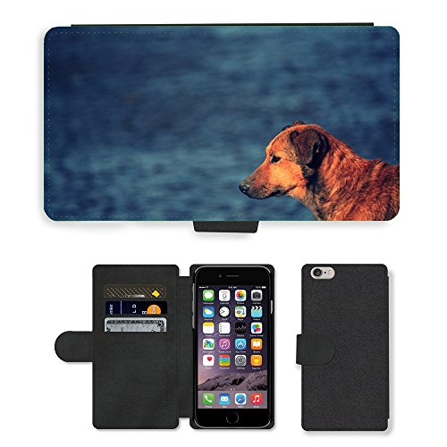 "Just Phone Cases PU Leather Flip Custodia Protettiva Case Cover per // M00128816 Dog River Tramp animaux Eau Animaux // Apple iPhone 6 PLUS 5.5"""