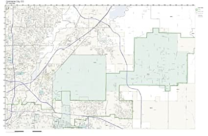 Amazon.com: ZIP Code Wall Map of Commerce City, CO ZIP Code Map
