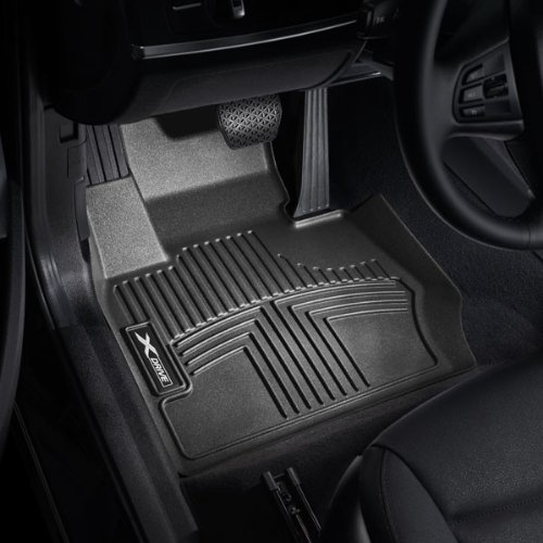 BMW All Weather Front Rubber Floor Liner Mats X1 XDrive - Black