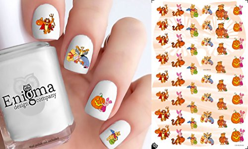 Pooh Halloween Accessories (Vinyl Peel & Stick Nail Decals with White)]()